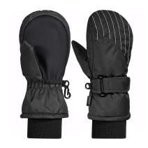 Andake Winter Warm Waterproof Kids Ski Mittens Gloves for Todder Baby Girls and Boys