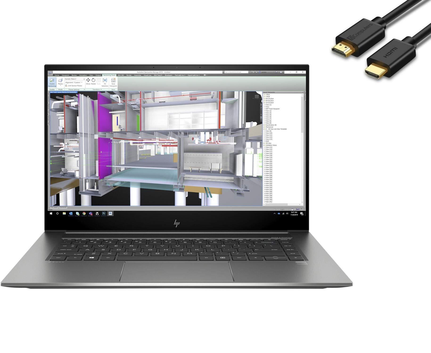 "2021 HP Zbook Studio G7 15.6"" FHD (1920x1080) Mobile Workstation Laptop (Intel 8-Core i9-10885H, 16GB DDR4 RAM, 1TB PCIe SSD, Quadro T1000 Graphics) Backlit, 2 x Thunderbolt 3, WiFi 6, Windows 10 Pro"