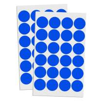 """1200 Pack, 1"""" Round Color Coding Circle Dot Sticker Labels - Blue"""