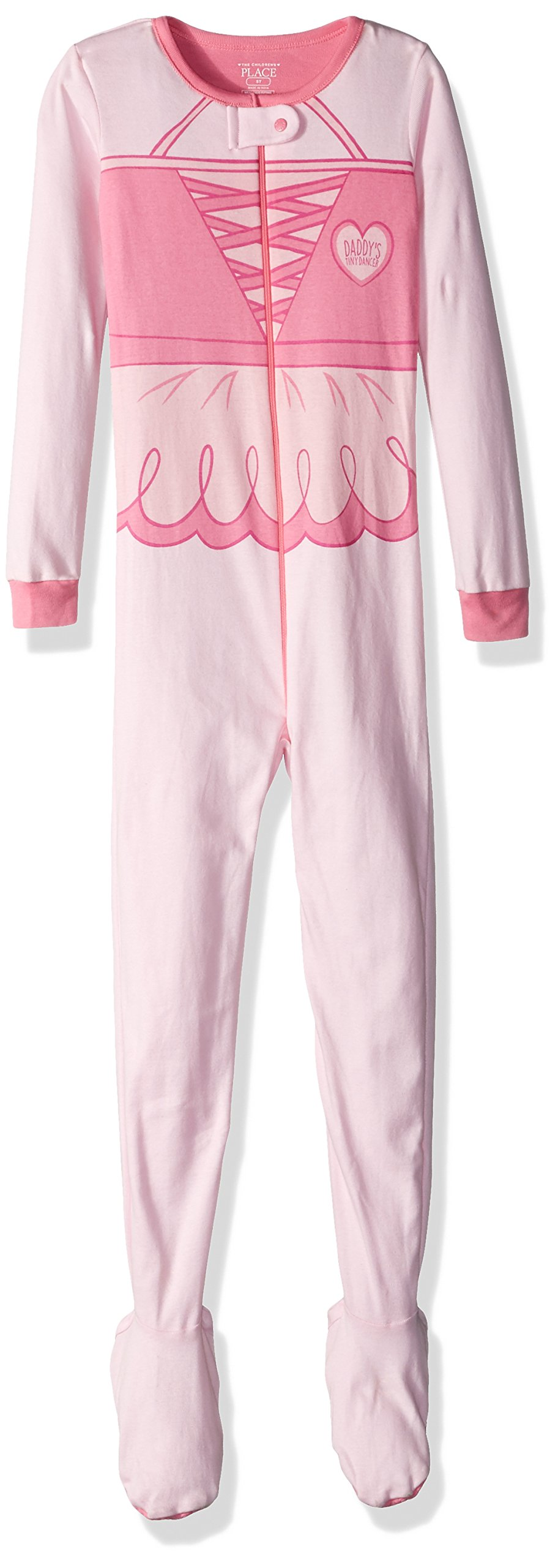 The Children's Place Girls' Long Sleeve One-Piece Pajamas 2