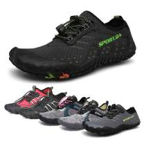 Mens Womens Water Shoes, Quick-Dry Lightweight Barefoot Wide Feet Toe Solid D.