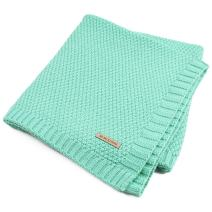 SOBOWO Baby Swaddle Blanket, Babies Knit Soft Wrap Stroller Blankets for Infant Girls Boys Cribs, Nursing (Mint Green)