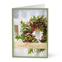Hallmark Business Christmas Card for Customers (Rustic Wreath) (Pack of 25 Greeting Cards)