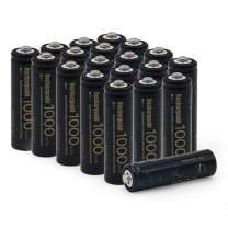 BAOBIAN AA NiCd 1000mAh 1.2V Rechargeable Batteries for Outdoor Solar Lights,Garden Lights, Remotes, Mice (20PCS AA 1000mAh)