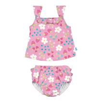 iplay. by green sproutsTwoPiece TankiniwithSnapReusable Swim Diaper | Baby Girls' Swimsuit | Lightweight, Patented Design | Comfort + Protection, Trusted for Swim Lessons | Sizes 6 mo-4T