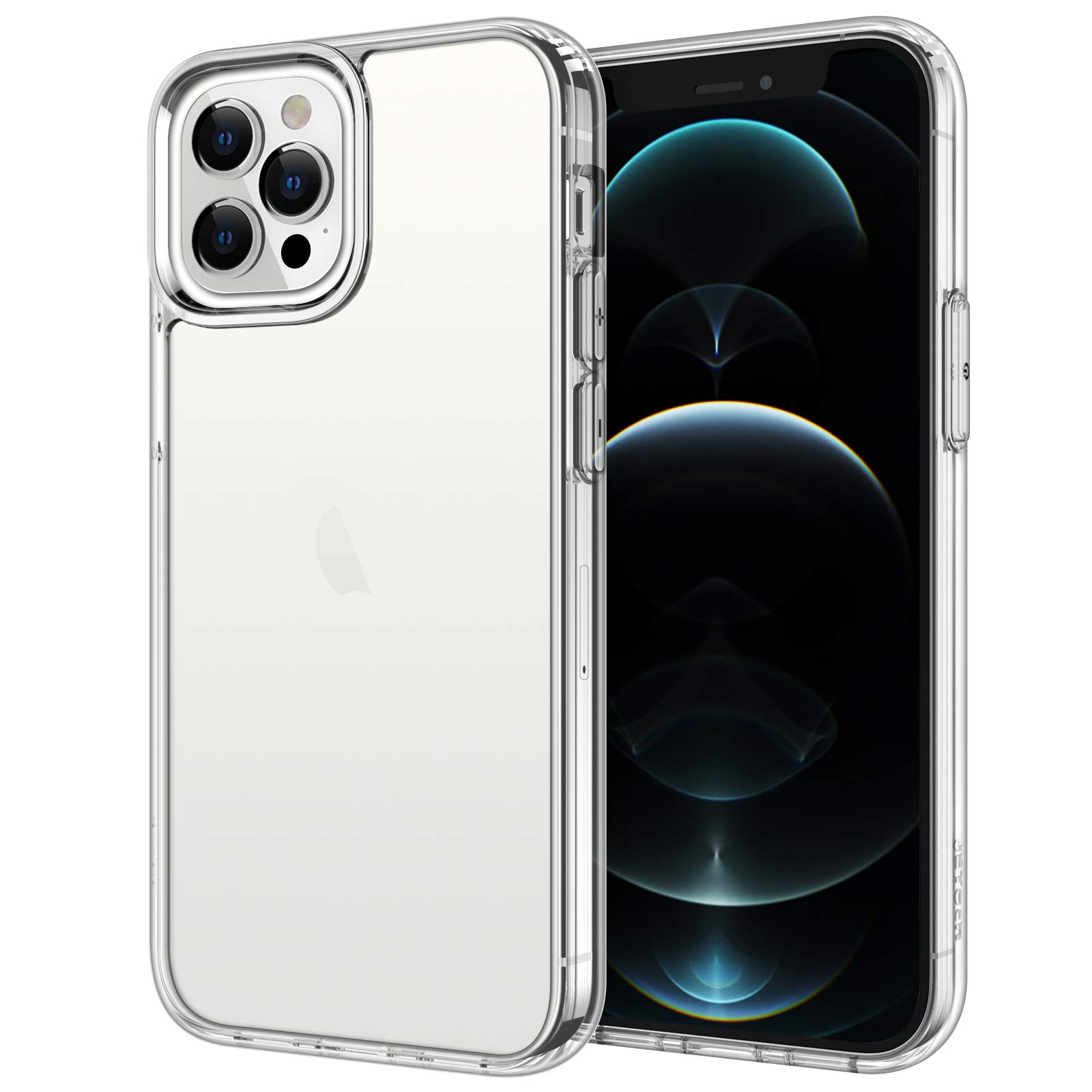 JETech Case for iPhone 12 Pro Max 6.7-Inch, Shockproof Bumper Cover, Anti-Scratch Clear Back (HD Clear)