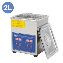 CO-Z 2L Professional Ultrasonic Cleaner with Digital Timer&Heater for Jewelry Glasses Watch Dentures Small Parts Circuit Board Dental Instrument, Industrial Commercial Ultrasound Cleaning Machine 110V