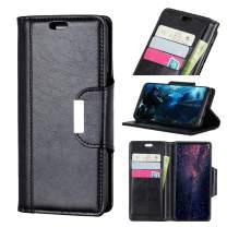 HYAIZLZ Google Pixel 3a XL Wallet Case Business with Stand Flip PU Leather Protective Case Cover for Google Pixel 3a XL,Color Black