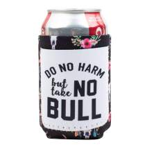 Peachy Keen by Southern Grace Soft Neoprene Collapsible Insulating Can Beer Bottle Cooler Sleeve Coozie | Do No Harm But Take No Bull