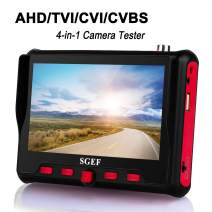 SGEF Wrist CCTV Tester, HD 8MP Portable Camera Tester AHD TVI CVI CVBS Tester UTC OSD Control 4.3 Inch TFT LCD Monitor Analog Video Test Cable Test PTZ Control 12V Power Output(6300ACT)