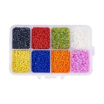 PandaHall Elite About 12500 Pcs 12/0 Multicolor Beading Glass Seed Beads 8 Colors Round Pony Bead Mini Spacer Czech Beads Diameter 2mm for Jewelry Making
