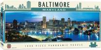 MasterPieces Cityscapes Panoramic Jigsaw Puzzle, Downtown Baltimore, Maryland, Photographs by James Blakeway, 1000 Pieces