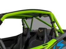SuperATV Heavy Duty Lightly Tinted Rear Windshield for 2018+ Textron Wildcat XX / 2020+ Tracker XTR1000 | Eliminates the suction effect created from a front windshield!