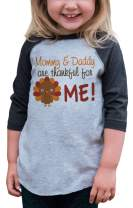 7 ate 9 Apparel Boy's Thankful for Me Thanksgiving Grey Shirt