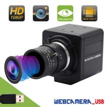 Varifocal Lens USB Webcam Mini Camera 2.8-12mm CMOS OV2710 USB with Camera,2MP High Speed 100fps Webcam,Full HD 1080P Webcamera,UVC Compliant Support Most OS,Focus Adjustable,High Speed USB2.0 Webcam