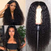 Curly Lace Front Wigs Human Hair 20 inch Kinky Curly Human Hair Wigs Wet And Wavy Lace Front Wigs For Black Women T Part 150% Density Lace Frontal Wigs Pre Plucked With Baby Hair