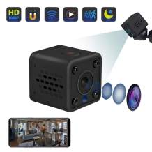 DOTSOG Mini Hidden Camera Spy Cam WiFi Small Wireless Full HD 1080P Video Camera with Night Vision Motion Sensor for iPhone Android Video Detection Security Nanny Surveillance Cam