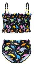 RAISEVERN Little Girls Two Piece Swimsuit 3D Printed Bathing Suit Toddler Bikini Set