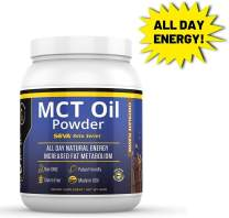 SOVA Keto Series MCT Oil Powder All Day Natural Energy and Increased Metabolism, Paleo and Ketogenic Friendly, Dissolves Easily in Coffee, Shakes, and Smoothies, 60 Servings, Unflavored