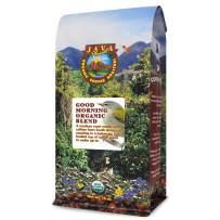Java Planet - Organic Coffee Beans - Good Morning Blend - a Gourmet Medium Roast of Arabica Whole Bean Coffee USDA Certified Organic, Grown at High Altitude - 1LB Bag