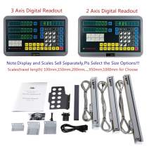 2/3 Axis Digital Readout and TTL Precision Linear Glass Scale DRO Encoder for Milling Lathe,Note: Display and Scales Sold Separately,pls Select the Size options!(600mm travel length scale ONLY(24''))
