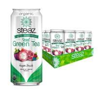 Steaz Organic Lightly Sweetened Iced Green Tea, Super Fruit, 16 FL OZ (Pack of 12)