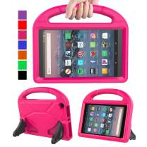 MENZO Kids Case for Amazon All-New Fire HD 8 2018/2017, Light Weight Shockproof Handle Stand Kids Friendly Case for Fire HD 8 inch (2017 and 2018 Releases) Tablet, Rose