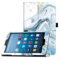 """Famavala Folio Case Cover Compatible with 8"""" Fire HD 8 Tablet [8th Generation 2018 / 7th Generation 2017 ] (FloatBlue)"""