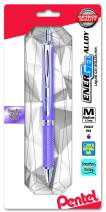 Pentel EnerGel Alloy RT Premium Liquid Gel Pen, 0.7mm Violet Barrel, Violet Ink, 1-Pack Carded (BL407VBPV)