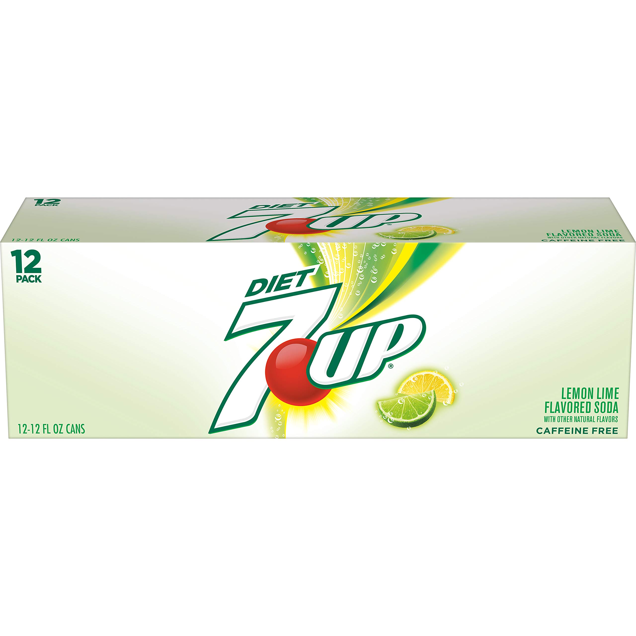Diet 7UP Lemon Lime Soda, Zero Calories and Caffeine Free, 12 Fl Oz Cans (pack of 12)