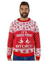 Tstars It's Christmas Ugly Sweater Funny Humping Reindeer Men Women Sweater