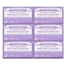 Dr. Bronner's Pure-Castile Bar Soap - Lavender, 5 Oz (6 Pack)