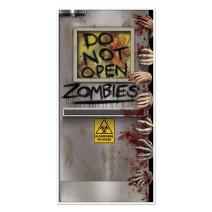 "Beistle Zombies Lab Door Cover, 30"" by 5', Multicolor"