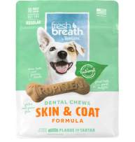 Fresh Breath by TropiClean Dental Chews for Dogs, Made in USA - Removes Plaque & Tartar
