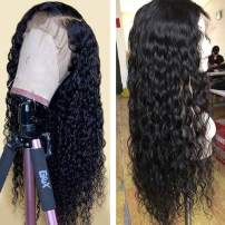 Arabella Water Wave Human Hair Wig 20 Inch 360 Lace Frontal Wig Brazilian Hair 360 Lace Frontal Wig Human Hair 150% Density Pre Plucked With Baby Hair Wet And Wavy Lace Front Wigs Natural Color