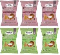 Real Coconut Grain Free Tortilla Chips, Himalayan Pink Salt & Splash Of Lime Variety Pack, 5.5 Ounces (Pack of 6)