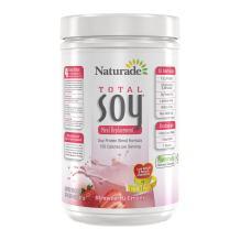 Naturade Total Soy All-Natural Original Powder – Strawberry Creme – 17.88 oz