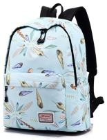 Leaper Cute Conch Pattern Backpack College Bags Girls Daypack Travel Bag Blue