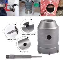 HOHXEN 60mm SDS Plus Shank Hole Saw Cutter Concrete Cement Stone Wall Drill Bit