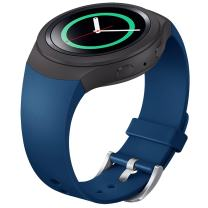 FanTEK Band for Samsung Gear S2 - Soft Silicone Sports Style Replacement Strap Work for Samsung Gear S2 Smart Watch SM-R720 SM-R730 Version Only (Dark Blue)