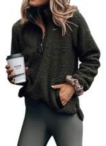 Eytino Women Fashion Oversize Fleece Sweatshirt Long Sleeve Pullover Outwear Coat(7 Colors,S-XXL)