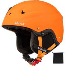 Gonex Ski Helmet - ASTM and CE Certified Safety Snowboard Snow Helmet for Men Women Youth - Winter ABS Anti-Shock with Adjustable Dial Sports Skiing Helmet, S/M/L Size