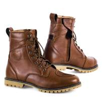 SHIMA Thomson, Men's Vintage Leather Street Motorcycle Boots - Brown (45, Brown)
