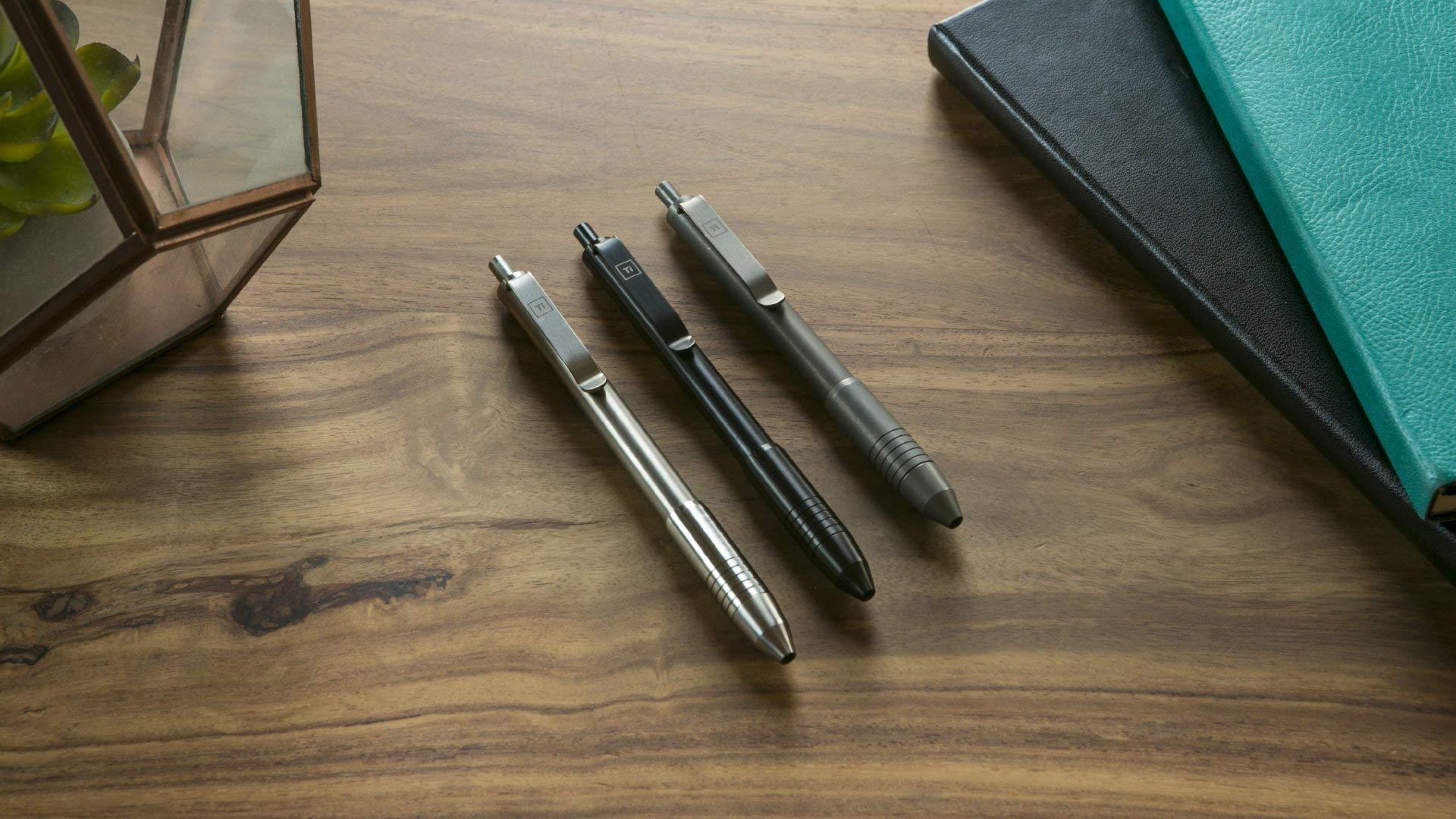 Ti Click EDC Pen (Titanium - Midnight Black)