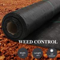 AGTEK Garden Weed Barrier Landscape Fabric 3.8oz 3x50 FT Heavy-Duty Ground Cover Eco-Friendly Weed Control