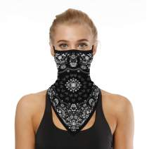 SANDERY Funny Face Mask Neck Gaiter BandanaReusable Washable Ear Loops Women Man Balaclava Sun Dust Wind