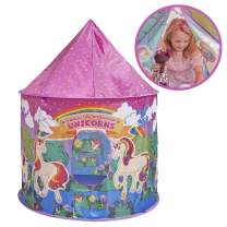 Glittles Unicorn Play Tent Toys for Girls | Magical Unicorn Gifts for Girls | Unicorn Girls Play Tent Kids Playhouse| Play Tent for Princesses 3 years old and upwards