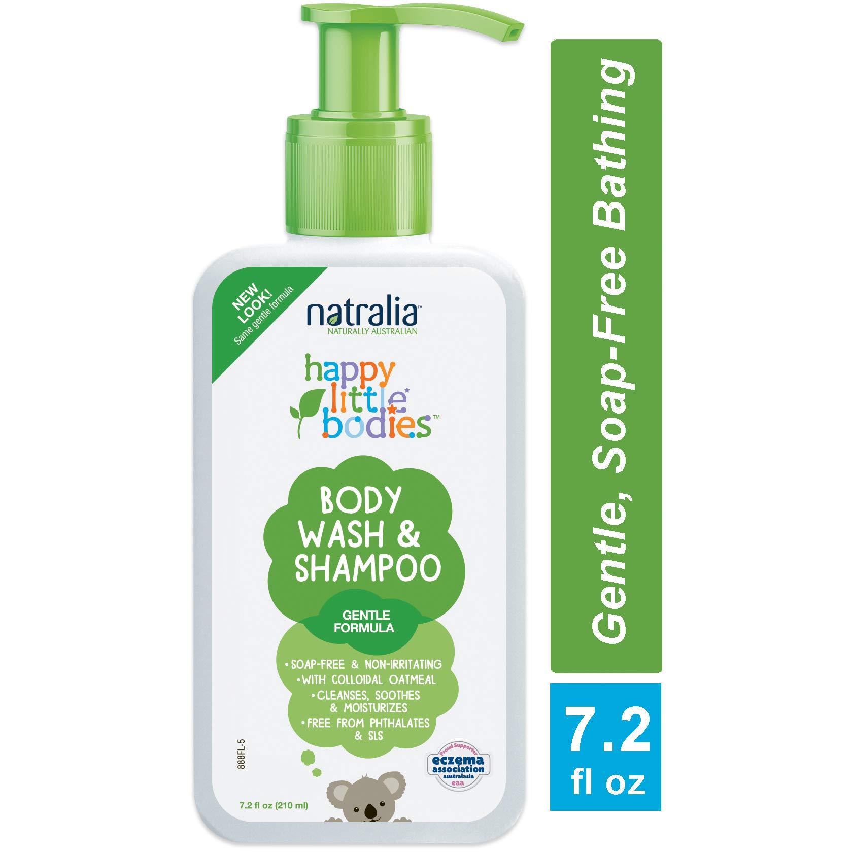 Natralia Happy Little Bodies Eczema Body Wash & Shampoo, 7.2 Ounce