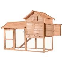 Lovupet 83inch Outdoor Wooden Chicken Coop Nest Box Hen House Poultry Pet Hutch Garden Backyard Cage 0310(Chicken Coop#1)
