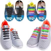 EZIGO No Tie Shoelaces for Kids and Adults, Tieless Elastic Rubber Kids Laces
